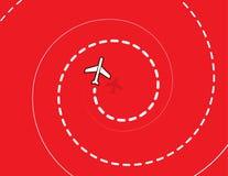 Samolot spirala Zdjęcie Royalty Free