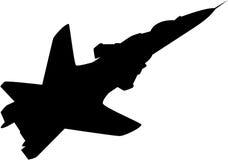 Samolot sylwetka Obraz Royalty Free