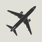 Samolot sylwetka Odgórny widok Zdjęcie Royalty Free