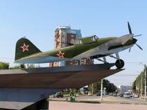 Samolot szturmowy IL-2 podczas drugi wojny światowa Zdjęcia Stock