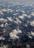 Samolot uskrzydla w niebie Obrazy Royalty Free