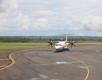 Samolot w Denpasar lotnisku Fotografia Stock
