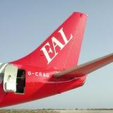 Samolot w Lampedusa Obraz Royalty Free