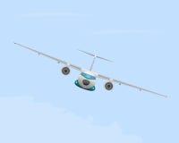 Samolot w locie ilustracja wektor