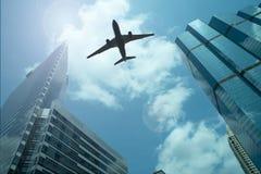 Samolot w niebie zdjęcie stock