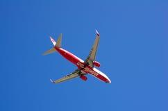Samolot w niebie fotografia royalty free