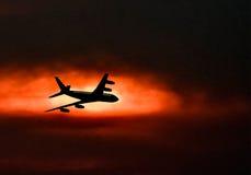Samolot w niebie Zdjęcia Royalty Free