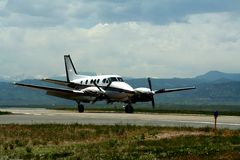 - samolot w połowie wielkości Zdjęcie Stock