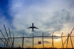 Samolot w powietrzu Fotografia Stock