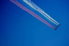 Samolot w powietrzu Obraz Stock