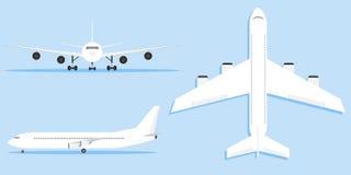 Samolot, samolot, samolot w różnych różnicach Zdjęcia Royalty Free