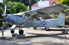 Samolot w wojna w wietnamie szczątkach Muzealnych obrazy stock