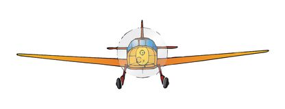 samolot wektora ilustracji