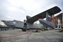 Samolot wojskowy Be-12 w muzeum światowy ocean Zdjęcia Stock