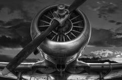 Samolot wojskowy od past Fotografia Stock