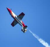 Samolot wojskowy przy airshow Zdjęcia Royalty Free
