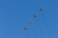 Samolot wojskowy w świętowaniu Maj 9 Zdjęcie Stock