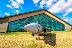 Samolot wystawa obraz royalty free