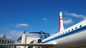 Samolot Yak-42 przy VDNKH wystawą Fotografia Royalty Free