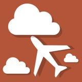 Samolot z chmurami Zdjęcia Royalty Free