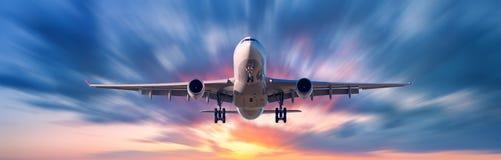 Samolot z ruch plamy skutkiem Obrazy Stock