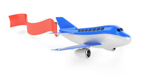 Samolot z streamer Obrazy Stock
