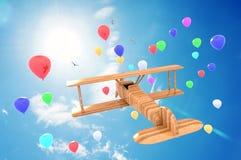 Samolot zabawka Obrazy Royalty Free
