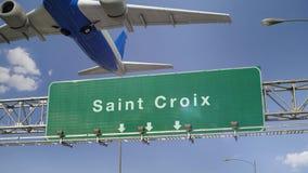 Samolot Zdejmuje Świątobliwego Croix zbiory wideo