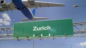 Samolot Zdejmuje Zurich zdjęcie wideo