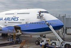 Samolot ziemia fotografia stock