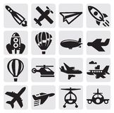 Samolotowa ikona Obrazy Stock