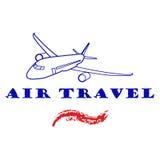 Samolotowa ikona Podróży powietrznej ikona Obrazy Royalty Free