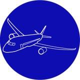 Samolotowa ikona Podróży powietrznej ikona Zdjęcia Royalty Free
