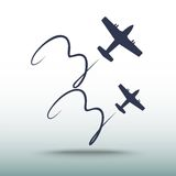 Samolotowa ikona, wektorowa ilustracja Obrazy Stock
