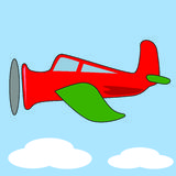 samolotowa komiks. Fotografia Stock