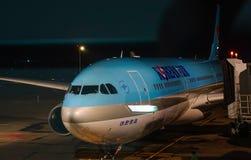 Samolotowa kurtyzacja przy D?bnym syna Nhat lotniskiem zdjęcia royalty free
