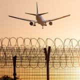 Samolotowa lewica lotnisko Fotografia Stock