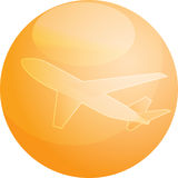 samolotowa podróży lotniczej Zdjęcie Stock