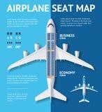 Samolotowa Seat mapy klasy karta wektor ilustracji