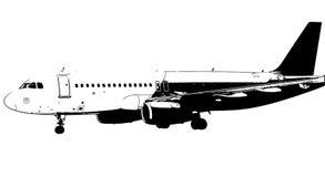 Samolotowa wektorowa ilustracja zdjęcia stock