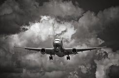 samolotowe chmury Zdjęcie Stock