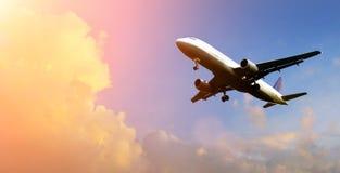 samolotowe chmury nad Fotografia Royalty Free