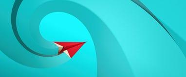 samolotowego ilustracyjnego układu rękodzielniczy origami papieru planu wektor Zdjęcia Stock