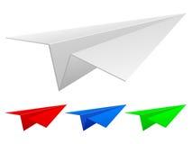 samolotowego ilustracyjnego układu rękodzielniczy origami papieru planu wektor Zdjęcie Stock