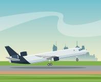 Samolotowego lotnisko transportu biznesu krajobrazu pasażerski miasto Zdjęcie Stock