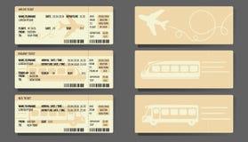 Samolotowy Autobusowy Taborowych biletów pojęcia projekt Royalty Ilustracja