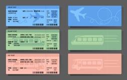 Samolotowy Autobusowy Taborowych biletów pojęcia projekt Ilustracja Wektor