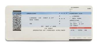 Samolotowy bilet Zdjęcie Royalty Free