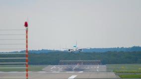 Samolotowy birdstrike nad pasem startowym zbiory wideo