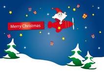 samolotowy Claus Santa royalty ilustracja